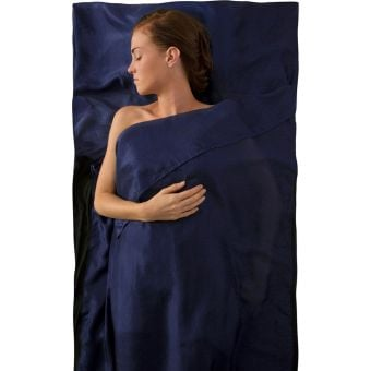 Sea To Summit Traveller Silk Stretch Sleeping Bag Liner Navy
