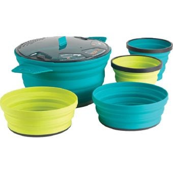 Sea To Summit X-Set #31 Collapsible 2.8L X-Pot w/ X-Bowls & X-Mugs