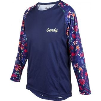Sendy Send It LS Youth MTB Jersey The Wildflower