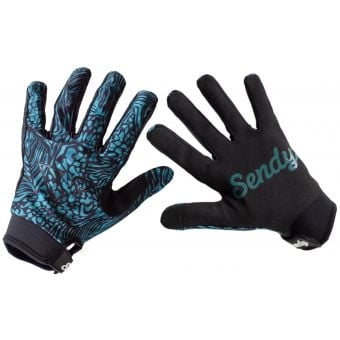 Sendy Send It Womens MTB Gloves Blue/Black Betty