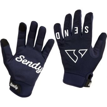 Sendy Send It Youth MTB Gloves Full Send Deep Blue