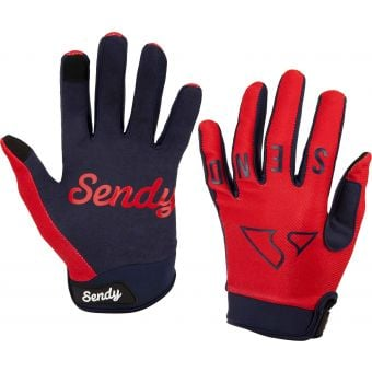 Sendy Send It Youth MTB Gloves Full Send Neon Punch