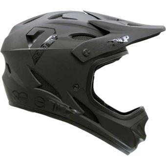 Seven 7iDP M1 Full Face Youth Helmet Matte Black/Gloss Black