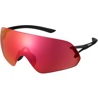 Shimano Aerolite P Sunglasses Matte Black w/ Red Ridescape Extra Sunny Lens