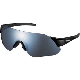 Shimano Aerolite Sunglasses Matte Black w/Smoke Silver Mirror Lens