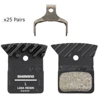 Shimano Workshop BR-R9170 L03A Resin Pads & Spring W/Fin Set (25 Pairs)