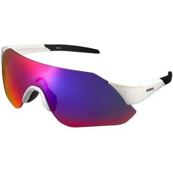 Shimano CE-ARLT1 Aerolite Sunglasses Metallic White (Smoke Red MLC)
