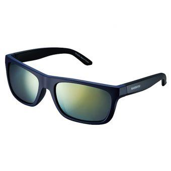 Shimano CE-S23X Sunglasses Matte Orion Blue/Matte Black (Smoke Orange Mirror)