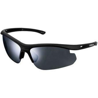 Shimano CE-SLTC1 Solstice Sunglasses Matte Black (Smoke Silver Mirror Lens)