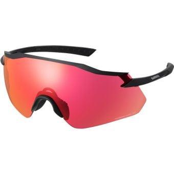 Shimano Equinox Sunglasses Matte Black w/ Red Ridescape Road Lens