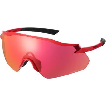 Shimano Equinox Sunglasses Metallic Red w/ Red Ridescape Road Lens