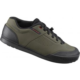 Shimano GR501 Flat Pedal Shoes Olive