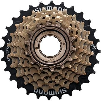 Shimano MF-TZ500 14-28T 7sp Multi Freewheel Cassette Black/Gold