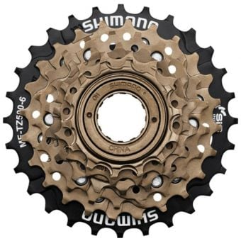 Shimano MF-TZ500 6sp 14-28T Multi Freewheel Black/Gold