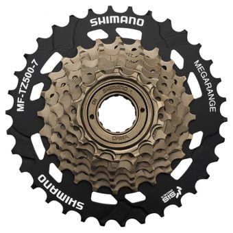 Shimano MF-TZ500 7sp 14-34T Mega-range Multi Freewheel Black/Gold