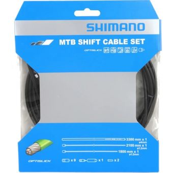 Shimano Optislick SL-M8000 1800/2100mm MTB Shift Cable Set Black