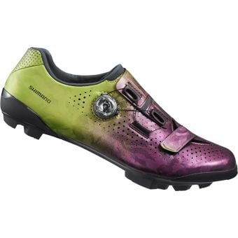 Shimano RX800 SPD Gravel Racing Shoes Purple/Green