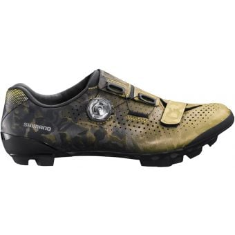 Shimano RX800 Womens SPD Gravel Racing Shoes Yellow/Gold