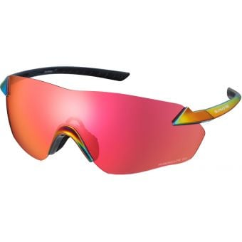 Shimano S-Phyre R Sunglasses Red Iridescent w/ Red Ridescape Road Lens