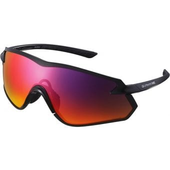 Shimano S-Phyre X Polarised Sunglasses Metallic Black (Optimal PL Red Multi Layer Lens)