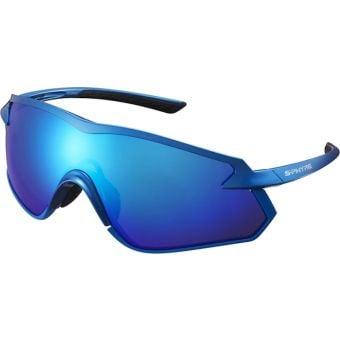 Shimano S-Phyre X Polarised Sunglasses Metallic Blue (Optimal PL Blue Multi Layer Lens)