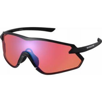 Shimano S-Phyre X Sunglasses Metallic Black w/ Red Ridescape Off-Road Lens