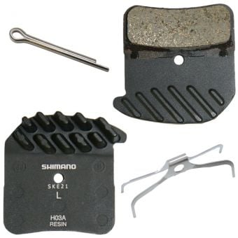 Shimano Saint BR-M820 H03A Resin Disc Brake Pads w/Fin & Spring