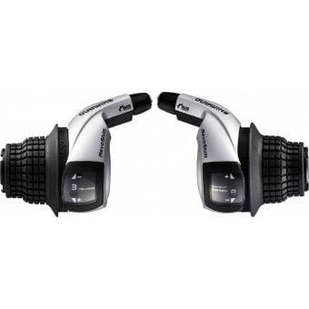 Shimano Tourney SL-RS45 3x8 Speed Revo Shifter Set Black/Silver