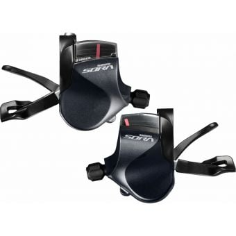 Shimano Sora SL-R3000 3x9 Speed Shift Lever Set Grey/Black