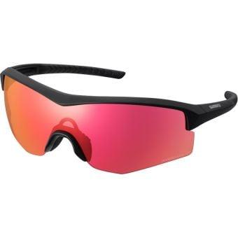 Shimano Spark Sunglasses Matte Black w/ Red Ridescape Road Lens