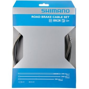 Shimano Standard Stainless Steel Road Brake Cable Set Black