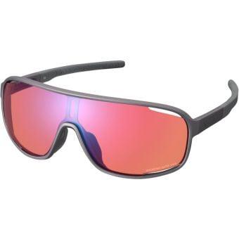 Shimano Technium Sunglasses Bronze Gold w/ Red Ridescape Off-Road Lens