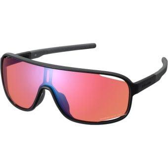 Shimano Technium Sunglasses Metallic Black w/ Red Ridescape Off-Road Lens
