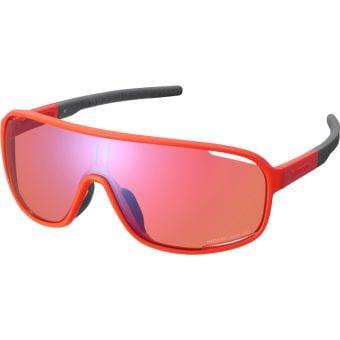 Shimano Technium Sunglasses Orange w/ Red Ridescape Off-Road Lens