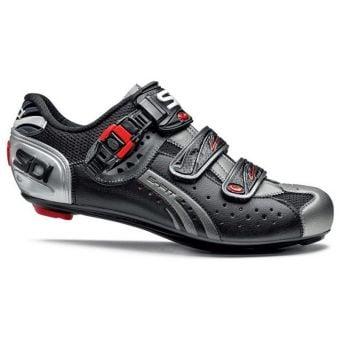 Sidi Genius 5-PRO Mega Road Shoes Black/Black Titanium