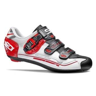 Sidi Genius 7 Road Shoes White/Black/Red