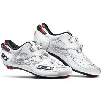 Sidi Shot Road Shoes White/White Black Liner