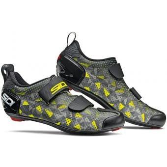 Sidi T-5 Air Carbon Composite Triathlon Shoes Grey/Yellow/Black