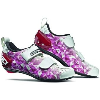Sidi T-5 Air Carbon Composite Womens Triathlon Shoes Rose/Jester Red/White