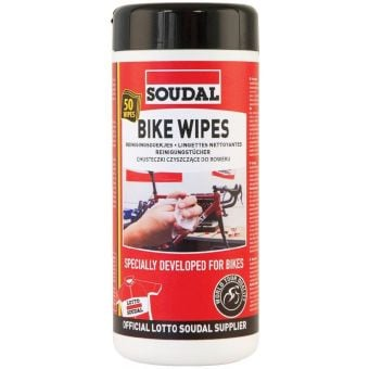 Soudal Bike Wipes 50pcs Resealable Dispenser