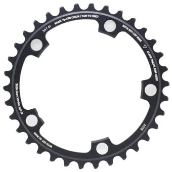 SRAM Powerglide Red Yaw 110BCD 34T 5-Bolt Road Chainring Black
