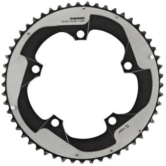 SRAM Red 53T Yaw 11 Speed 130BCD 2Pin Road Chainring Black/Falcon Grey