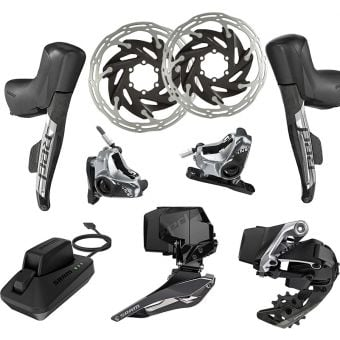SRAM RED eTap AXS 2X HRD Hydraulic Flat Mount Upgrade Kit (FD/RD/HRD/Battery/Charger)
