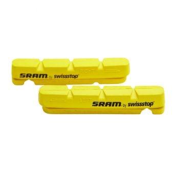 Sram Road Brake Pad Inserts for Carbon Rims Yellow