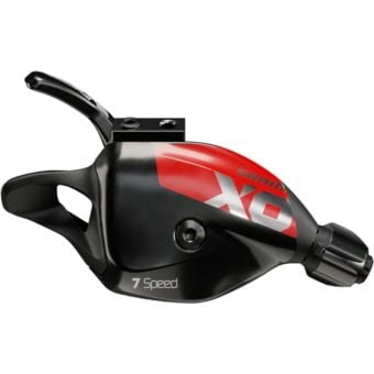 SRAM X01 DH X-Actuation 7 Speed Trigger Shifter with Discrete Clamp Red
