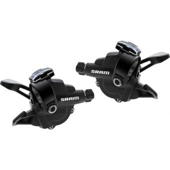 SRAM X4 3x8 Exact Actuation Trigger Shifter Set Black