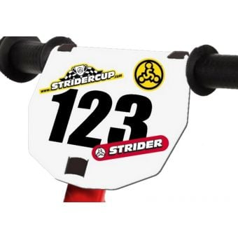 STRIDER Number Plate with Numbers