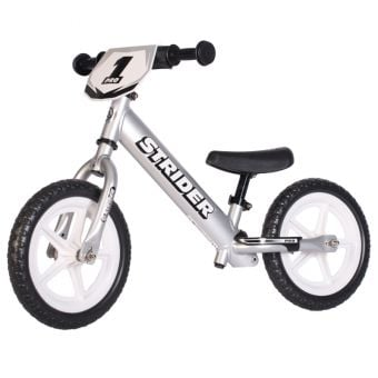 "STRIDER Pro 12"" Balance Bike Silver"