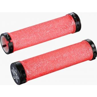 Supacaz Diamond Kush Dual Lock-On Grips Bling Pink/Red