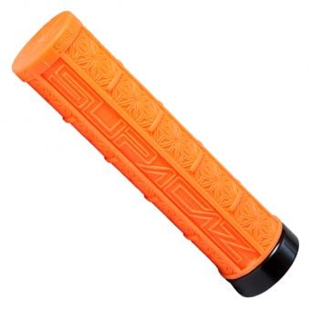 Supacaz Grizip 32mm Lock-On MTB Grips Neon Orange